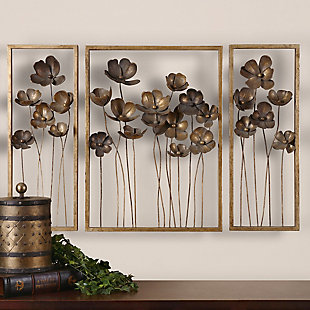 Uttermost Metal Tulips Wall Art Set of 3, , rollover