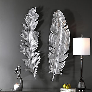 Uttermost Sparrow Silver Wall Decor Set of 2, , rollover