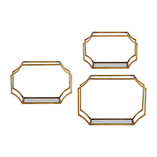 Uttermost Lindee Gold Wall Shelves Set of 3, , large