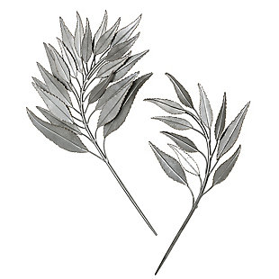 Uttermost Palm Branches Metal Wall Decor, Set of 2, , large