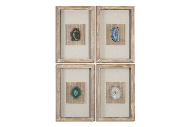 Uttermost Agate Stone, Set of 4, , large