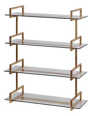 Uttermost Auley Gold Wall Shelf, , large