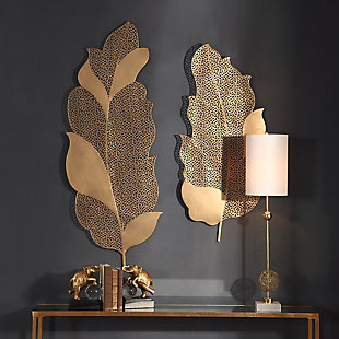 Uttermost Autumn Lace Leaf Wall Art, Set of 2, , rollover