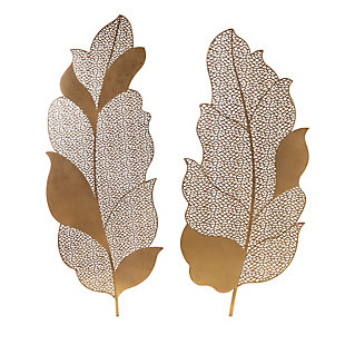 Uttermost Autumn Lace Leaf Wall Art, Set of 2, , large