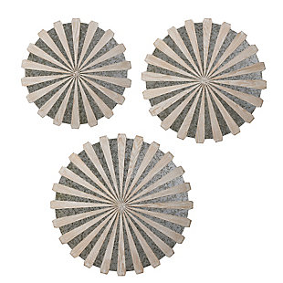 Uttermost Daisies Mirrored Circular Wall Decor, Set of 3, , large