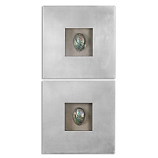 Uttermost Abalone Shells Silver Wall Art, Set of 2, , large