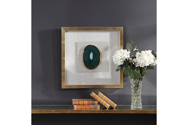 Uttermost Keeva Agate Stone Shadow Box, , large