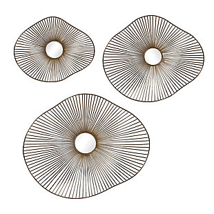 Uttermost Avarie Gold Metal Wall Art Set of 3, , large