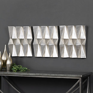 Uttermost Maxton Multi-Faceted Panels Set of 3, , rollover