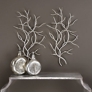 Uttermost Silver Branches Wall Art Set of 2, , rollover