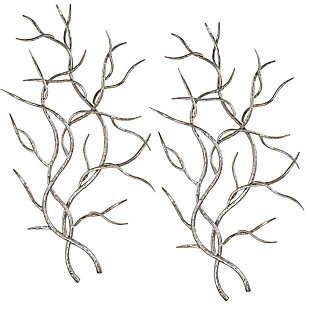 Uttermost Silver Branches Wall Art Set of 2, , large