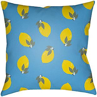 "Surya Summer Lemon 20"" x 20"" x 5"" Pillow, , large"