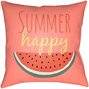 "Surya Summer Happy 18"" x 18"" x 5"" Pillow, , rollover"