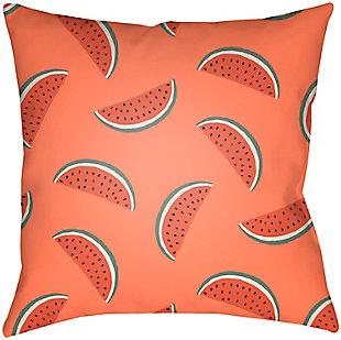 """Surya Summer Watermelon 20"""" x 20"""" x 5"""" Pillow, , rollover"""