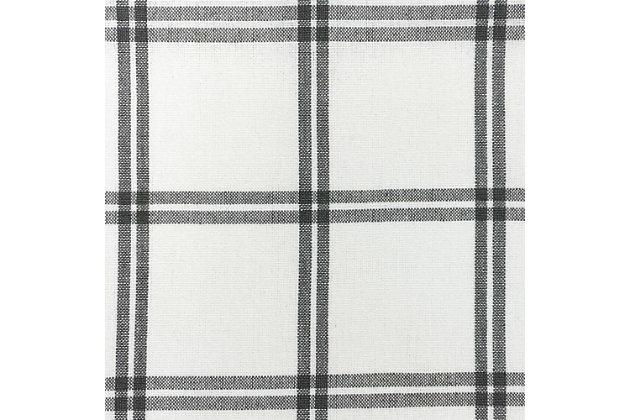 "Elrene Home Fashions Farmhouse Living Double Windowpane Plaid 60""x15"" Valance, White/Gray, large"