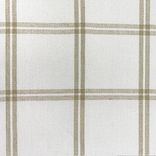 "Elrene Home Fashions Farmhouse Living Double Windowpane Plaid 60""x15"" Valance, White/Linen, large"