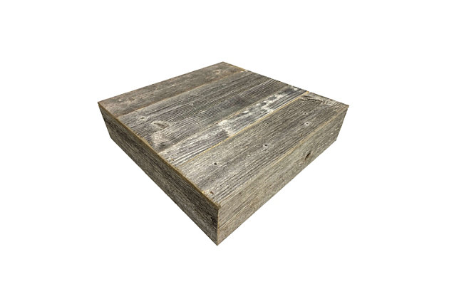 """Farmhouse Farmhouse 15"""" Weathered Gray Wooden Dessert Stand, Weathered Gray, large"""