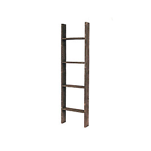 Farmhouse Farmhouse 4' Espresso Decorative Blanket Picket Ladder, Espresso, large