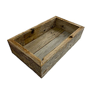 Rustic Rustic Farmhouse Large Weathered Gray Wood Display Box, , large