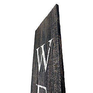 Rustic Rustic Farmhouse 5' Smoky Black Welcome Sign Front Porch, Smoky Black, large