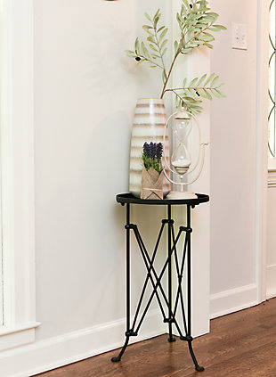 Creative Co-Op Metal Oval Tray-Style Accent Table, , rollover