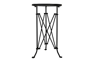 Creative Co-Op Metal Oval Tray-Style Accent Table, , large