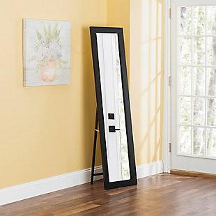 Home Basics Full Length Floor Mirror with Easel Back, Mahogany, , rollover