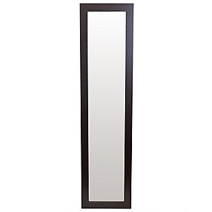 Home Basics Full Length Floor Mirror with Easel Back, Mahogany, , large