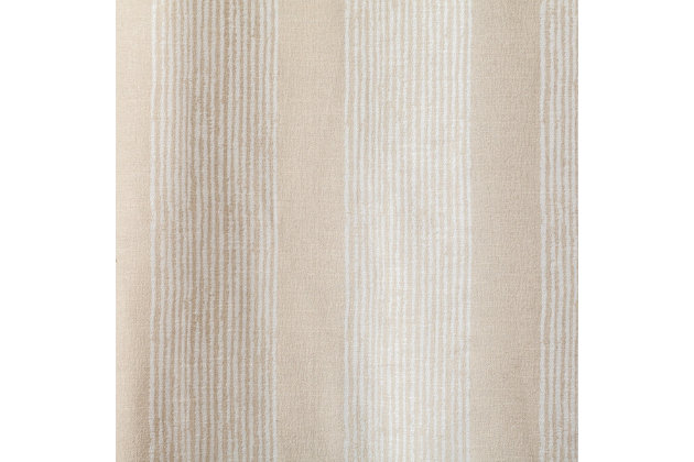 "Morena Stripe Cream 96"" Rod Pocket Panel, , large"