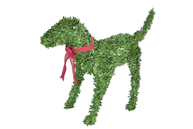 """28"""" Boxwood Puppy Dog Garden Topiary Statue, , large"""