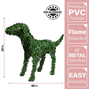 "28"" Boxwood Puppy Dog Garden Topiary Statue, , large"