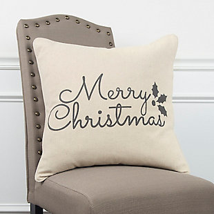 Merry Christmas Holiday Throw Pillow, , rollover