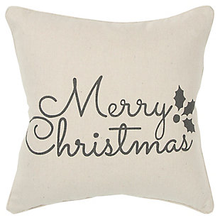 Merry Christmas Holiday Throw Pillow, , large