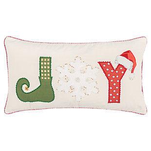 Joy Holiday Throw Pillow, , large