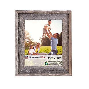BarnwoodUSA Farmhouse Signature 12x18 Weathered Gray Picture Frame, Weathered Gray, large
