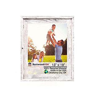 BarnwoodUSA Farmhouse Signature 13x19 White Wash Picture Frame, White Wash, large