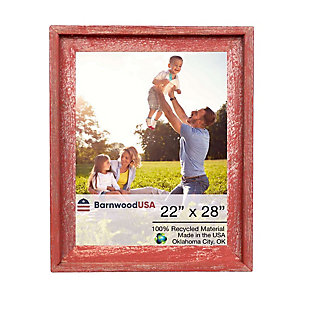 BarnwoodUSA Farmhouse Signature 22x28 Rustic Red Picture Frame, Rustic Red, large