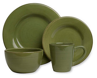 16-Piece Dinnerware Set ...  sc 1 st  Ashley Furniture HomeStore : green and white dinnerware - pezcame.com