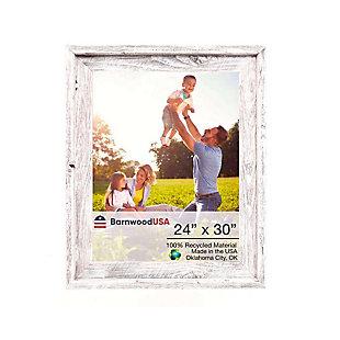 BarnwoodUSA Farmhouse Signature 24x30 White Wash Picture Frame, White Wash, large