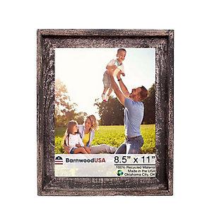 BarnwoodUSA Farmhouse Signature 8.5x11 Smoky Black Picture Frame, Smoky Black, large