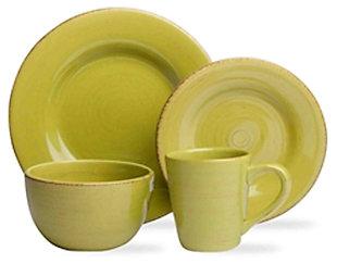 TAG Apple Green 16-Piece Dinnerware Set , , large