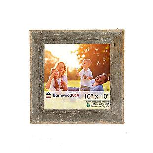 "BarnwoodUSA Farmhouse 10x10 Weathered Gray Picture Frame (1.5"" Molding), Weathered Gray, large"