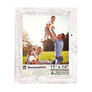 """BarnwoodUSA Farmhouse 11x14 White Wash Picture Frame (1.5"""" Molding), White Wash, large"""