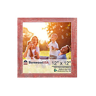 """BarnwoodUSA Farmhouse 12x12 Rustic Red Picture Frame (1.5"""" Molding), , large"""