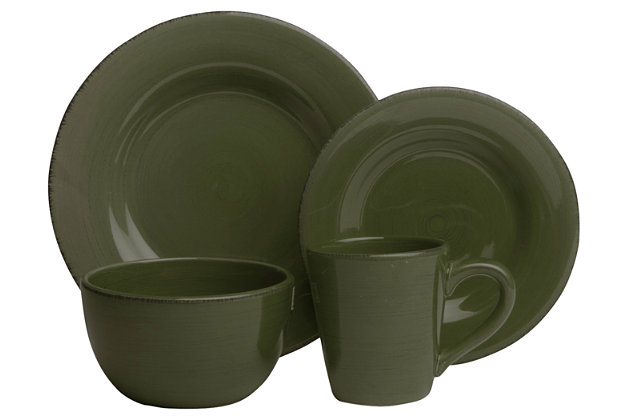 TAG Moss 16-Piece Sonoma Dinnerware Set\u0026#x0D;   large  sc 1 st  Ashley Furniture HomeStore : tag dinnerware - pezcame.com