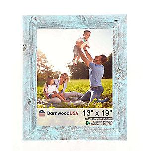 "BarnwoodUSA Farmhouse 13x19 Robins Egg Blue Picture Frame (1.5"" Molding), Robins Egg Blue, large"