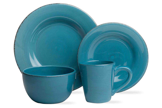 TAG Turquoise 16-Piece Dinnerware Set by Ashley HomeStore, Turquoise