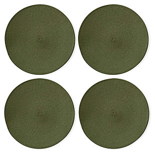 TAG Round Olive Placemats (Set of 4), , large