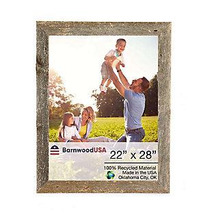 """BarnwoodUSA Farmhouse 22x24 Weathered Gray Picture Frame (1.5"""" Molding), , large"""
