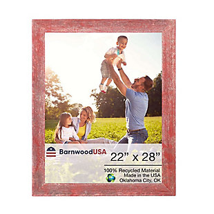 """BarnwoodUSA Farmhouse 22x28 Rustic Red Picture Frame (1.5"""" Molding), Rustic Red, large"""